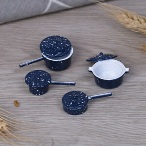 4Pcs-set-1-12-Dollhouse-miniature-metal-cooking-pan-pot-kitchen-cookw-yb