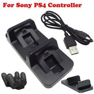 2WAY-Controller-Ladegeraet-Dual-USB-Station-Indikator-fuer-Sony-PS4-Schnellladen