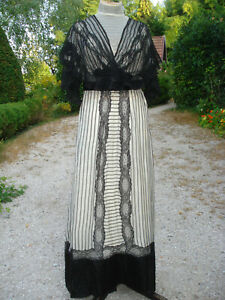 Robe Ancienne Belle Epoque Antique Edwardian Silk Gown Jugendstil Kleid Ebay