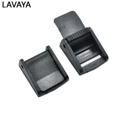Hebillas de plástico negro palanca de leva Clip Las Correas Correas De Mochila