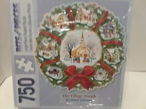 The-Village-Wreath-Christmas-Rosiland-Solomon-750-PIECE-PUZZLE-NEW