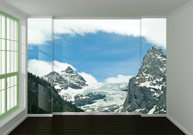 3D Clouds Snow Mountain 762 Wallpaper Mural Paper Wall Print Wallpaper Murals UK