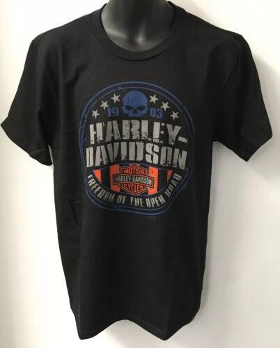 Harley Davidson Mens Freedom Round Short Sleeve T-Shirt Black  R003235