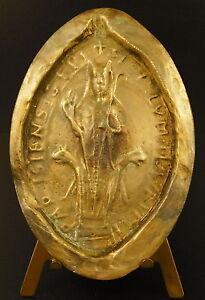 Medaglia-Sovrascrittura-Moderno-un-Sigillo-Monastica-034-Parisiensi-034-92-mm-Seal