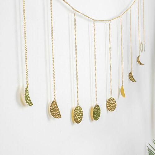 Moon Shining Phase Garland Decoration Chains Boho Gold Wall Hanging Ornaments