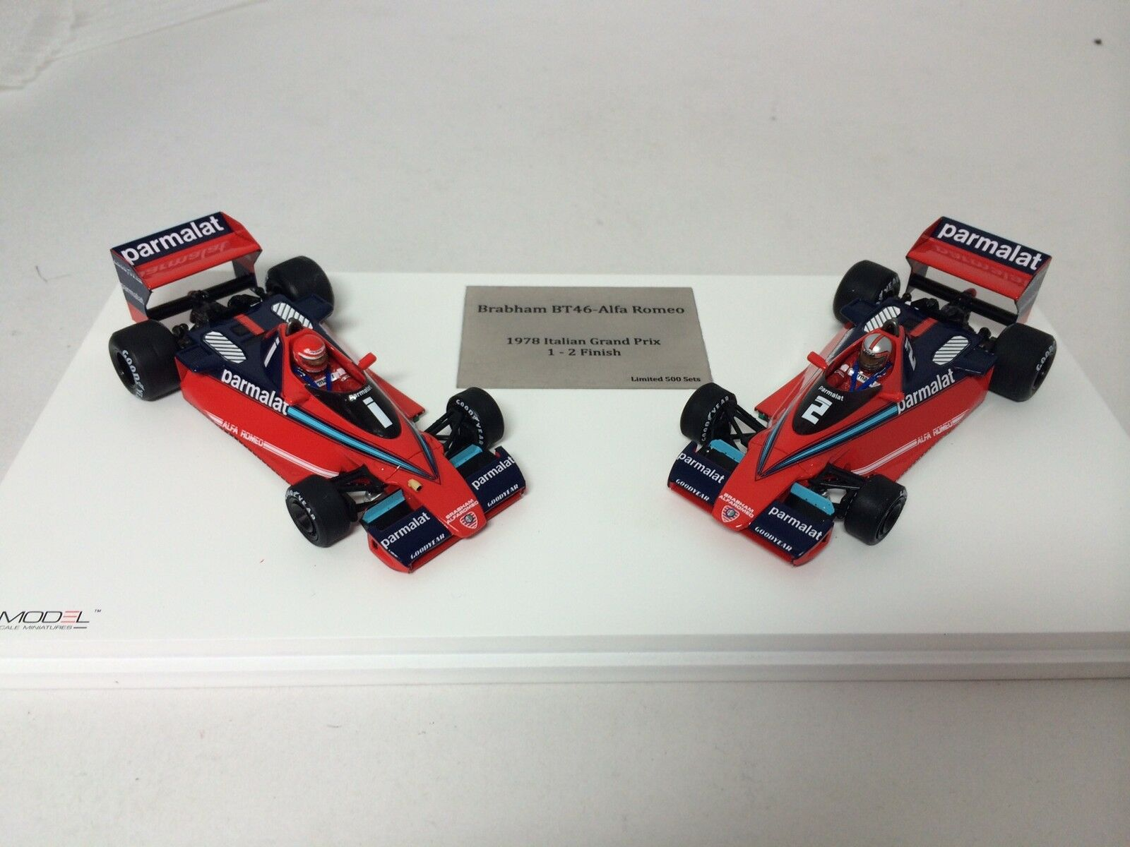 1/43 TSM 1978 Alfa Brabham BT46 Set Italian GP 1-2 Finish TSM124305