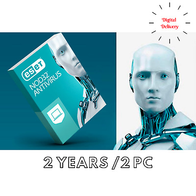 Eset NOD32 Antivirus 2020 for PC(2 years, 2 device) Global ...