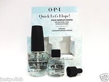 OPI Treatment Natural Nail Strengthener .5oz + Drip Dry Drying Drops .3oz/9ml