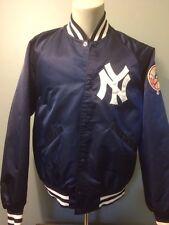 Vtg New York Yankees Starter Satin Jacket MLB Large Coat Snap 80s 90s Jeter NY L
