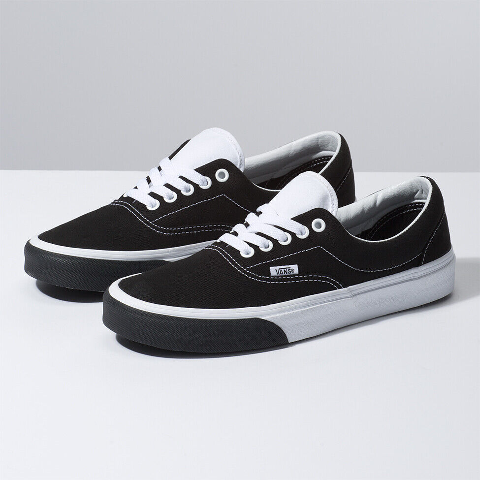 New Mens VANS MONOCHROME ERA WHITE   BLACK VN0A38FRVIG US M 7 - 10 TAKSE