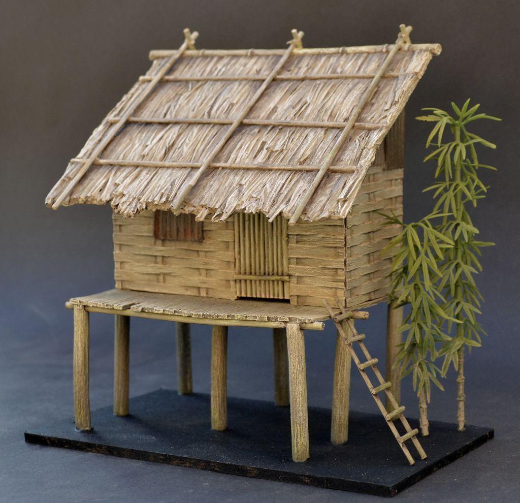 DioDump DD150 Vietnamese stilt hut - 1 35 scale resin diorama building model
