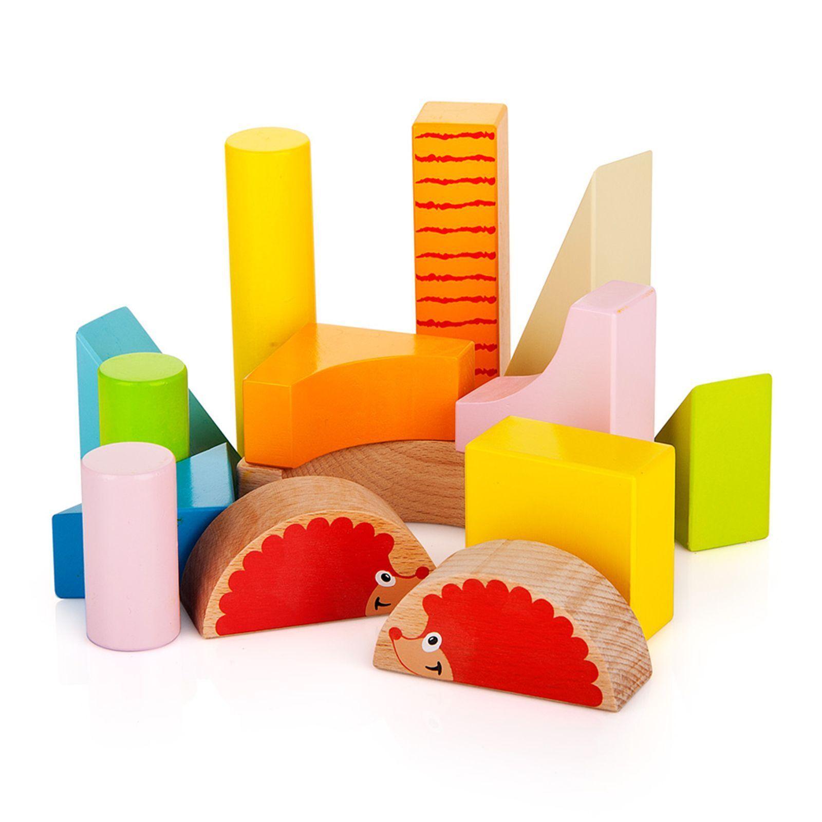 Holz Igel Igel Igel Walker mit Blöcke von Leomark Neue Kinder Spielzeug e53229