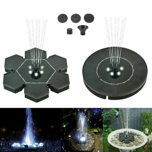 Solar Powered Floating Pump Water Fountain Birdbath Home Pool Garden Park Decor