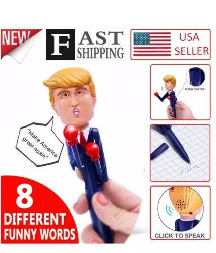 Funny Spoof Vocal Gift Pen Boxing Doll Pen USA‼️‼️ Donald Trump Talking Pen