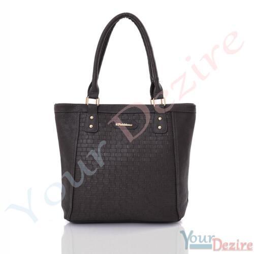 Womens Designer Office Faux Leather Tote Bag Ladies Shoulder Handbag Work New