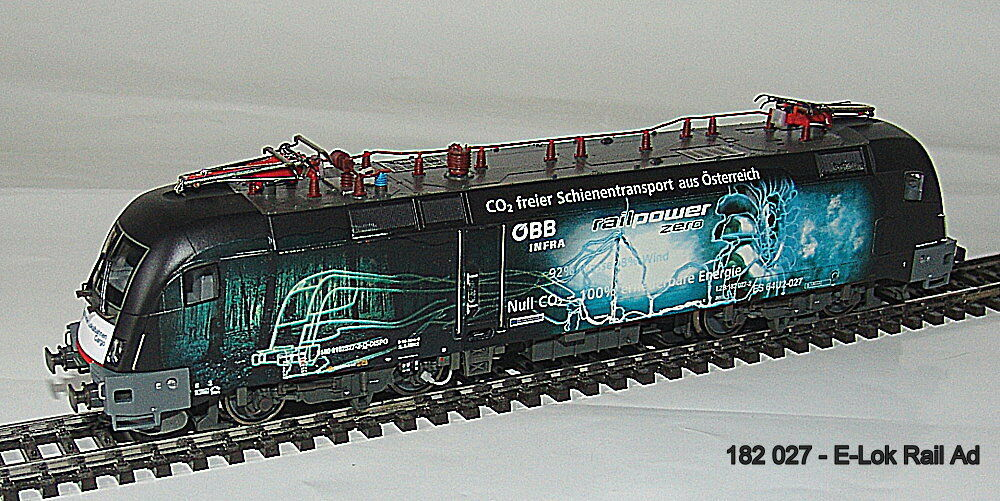 Railad 1059 AC e-Lok Taurus OBB 182 027  railpower  di corrente alternata versione  neu