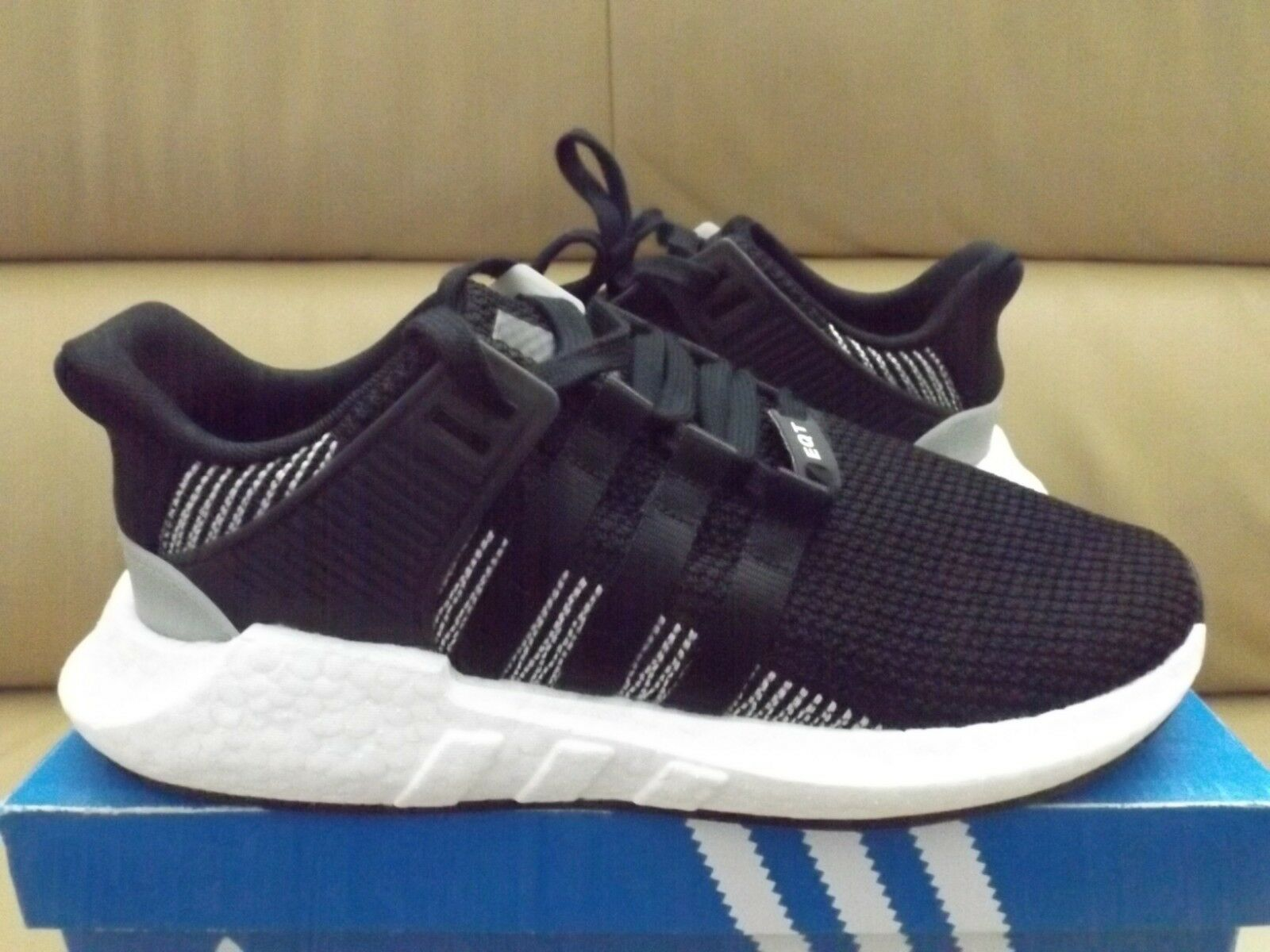 Adidas Originals EQT Support 93 17 Boost Men's shoes 9 Black White BY9509 NEW