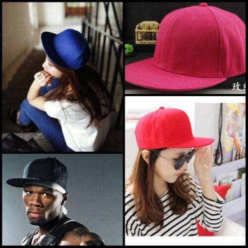 Men Blank Plain Snapback Hats Unisex Hip-Hop Adjustable Bboy Baseball Caps HOT