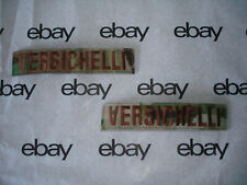 MILITARY NAME TAPES  EMBROIDERY 1X5 HOOK ON BACK
