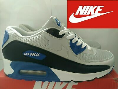Nike Air Max 90 Essential Scarpa Sneakers Uomo Grigio Nero Blu N44 UK 9 US10 | eBay