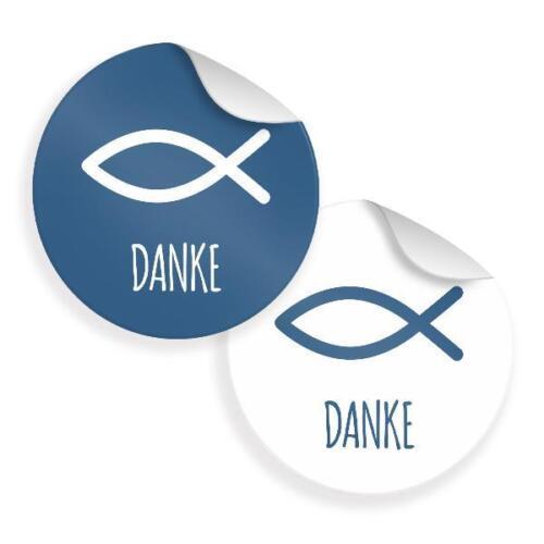 24x Sticker Autocollant communion confirmation gastgeschenke merci colombe poisson