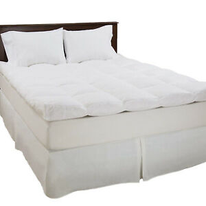 Thick 4 Inches Mattress Topper Down Duck Feather Gusset
