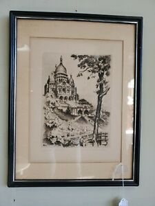 Mid Century Marcel Bessay French Etching