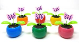 New Solar Powered Dancing Flip Flap ~Butterfly Assorted Qty 1~ Picked at Random