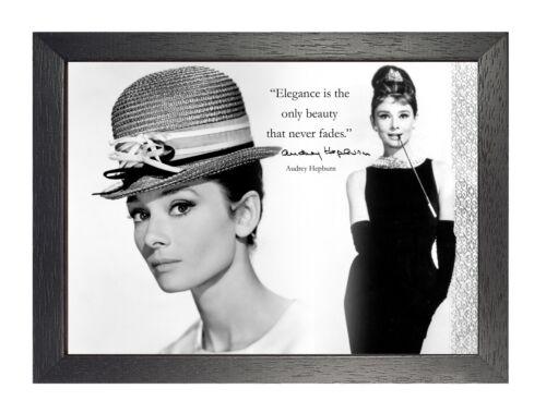 Audrey Hepburn 27 Motivation Poster Schwarz und Weiß Zitat Mode Icon Film