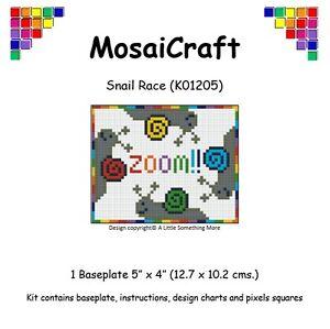 MosaiCraft-Pixel-Craft-Mosaic-Art-Kit-039-Snail-Race-039-Pixelhobby