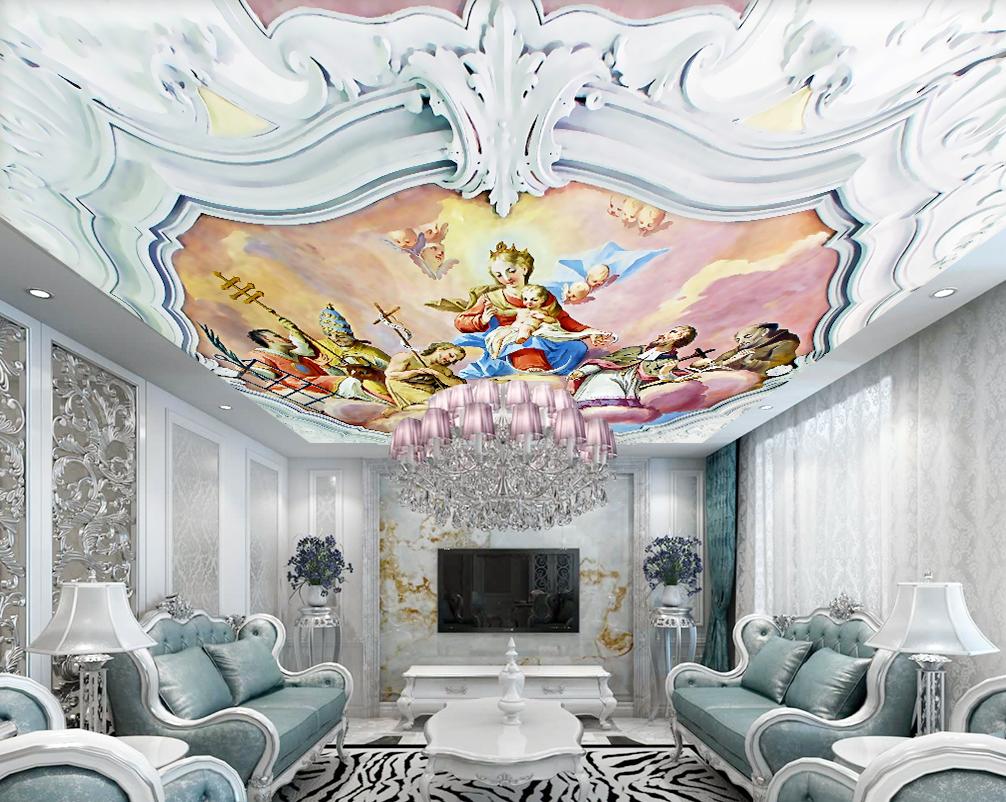 3D European Art 408 Ceiling Wall Paper Print Wall Indoor Wall Murals CA Jenny
