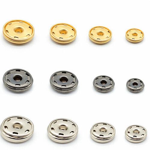 10-21mm 50x Metal Buttons Snap Fastener Press Studper Sew On Sewing Craft JB