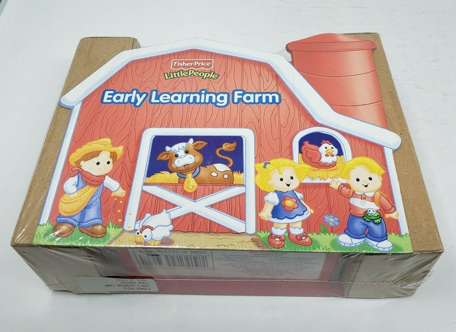 Fisher Price liten människor Early Learning Farm 8 Mini Board boks bildboard Barn