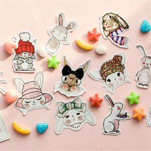 45X-Rabbit-Paper-Scrapbook-Stickers-Decor-DIY-Stationery-Baking-Seal-StickerNIUK