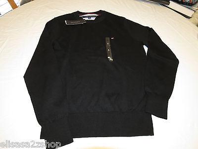 Mens Tommy Hilfiger long sleeve sweater shirt  Pima Cotton 7864539 Black 012 S