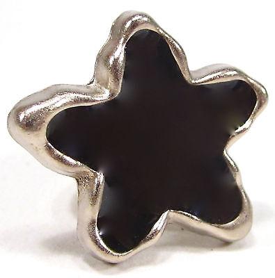 Ring SoHo Star silber Kunstharz schwarz SoHo retro resin black Stern gothik