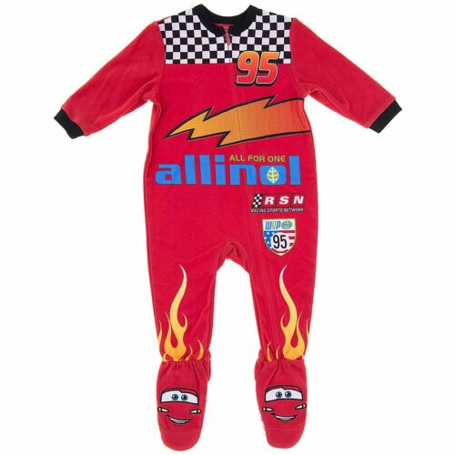 Cars Lightning McQueen Boys Infant Baby Suit Fleece Blanket Sleeper Size 12 M