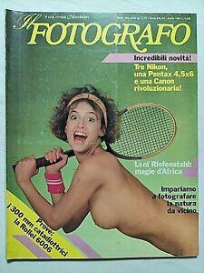 IL FOTOGRAFO N. 84 APRILE 1984 LENI RIEFENSTAHL - ENZO TOLLINI - PAOLO CALIA