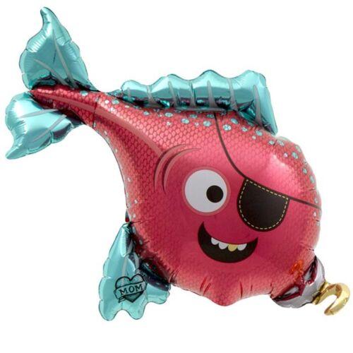 Ballon mylar alu 14″ Poisson Pirate Northstar Balloons 36 cm