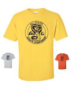 555012289 Yellow Karate Kid Cobra Kai All Valley Karate Championship shirt Apparel