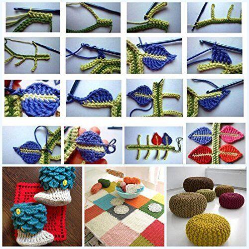49pcs Crochet Hooks Needles Knit Weave Craft Yarn Set 27 Accessories Crochet Kit