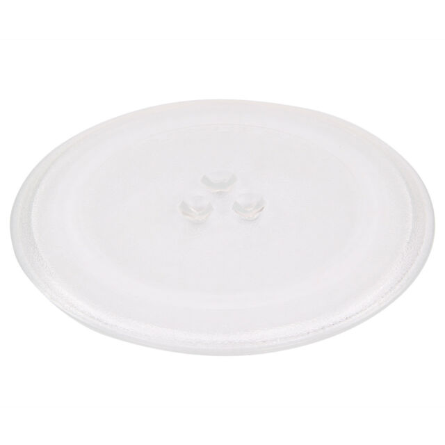 Universal Glass Microwave Oven Plate 245mm Turntable Dish 3 Pip Fixings Fittings
