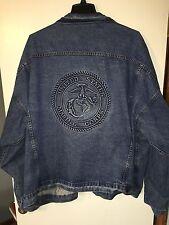 U.S. MARINE CORPS Embossed Denim Jacket Size 6XL MADE IN USA Jean TYCA 4xl 3xl