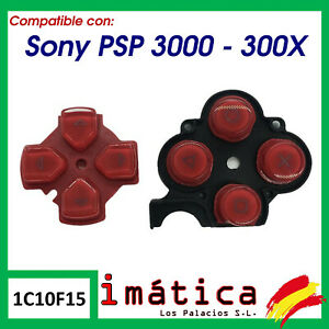 Buttons-Spare-For-sony-Psp-3000-30004-Red-Contact-Rubber-Contact