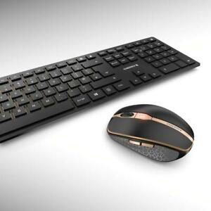 Cherry DW 9000 Slim Wireless Bluetooth Rechargeable Mouse & Keyboard for PC/Mac