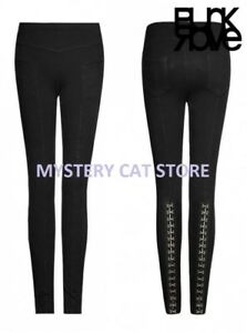 New-PUNK-RAVE-Gothic-Rock-Pants-Thick-Leggings-PK-102-Black-AUSTRALIAN-STOCK