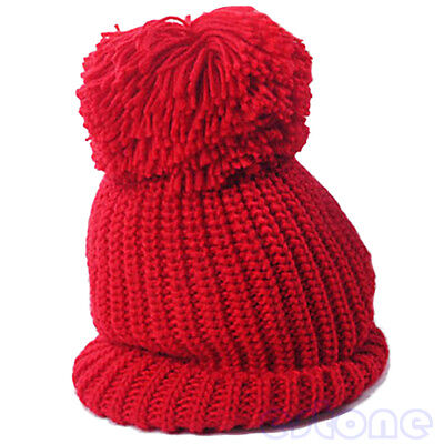 New Winter Oversized Slouch Cap Plicate Baggy Beanie Knit Crochet Ski Hat