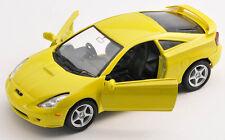 BLITZ VERSAND Toyota Celica gelb / yellow 1:34 ca.12cm Welly Modell Auto NEU OVP