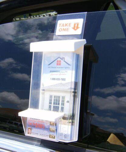 Outdoor Brochure /& Card Holder for marina marketing