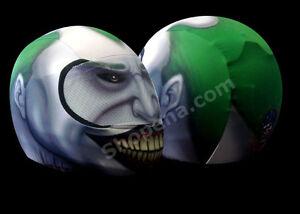 Joker Motorcycle Helmet Cover AND Visor Sticker Decal Batman Clown - Motorcycle helmet visor decals